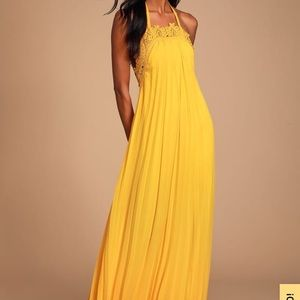 Worn once lulu yellow dress.